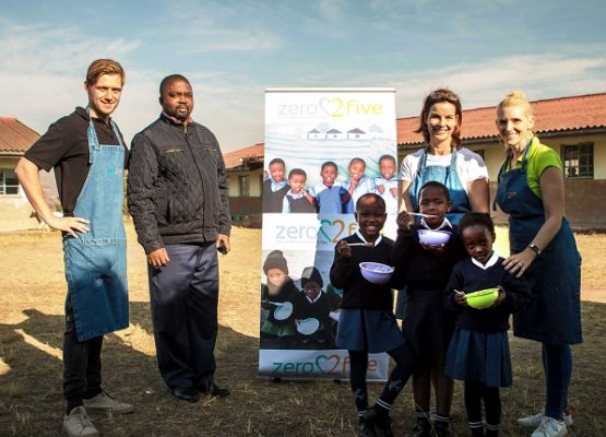 Two local schools benefit from big donation of food, learning materials and equipment