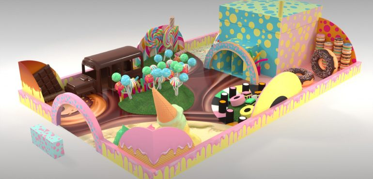 The candy-themed 'Sweetopia,' is is bursting to make instagramers profiles pop! Above is the glorious chocolate-styled bus and the pretty pastel Lolly Pop forest.